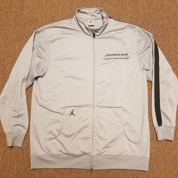 bea7e1e798fe9b Jordan Other - Nike Air Jordan Gray Track Jacket Zip Up Coat
